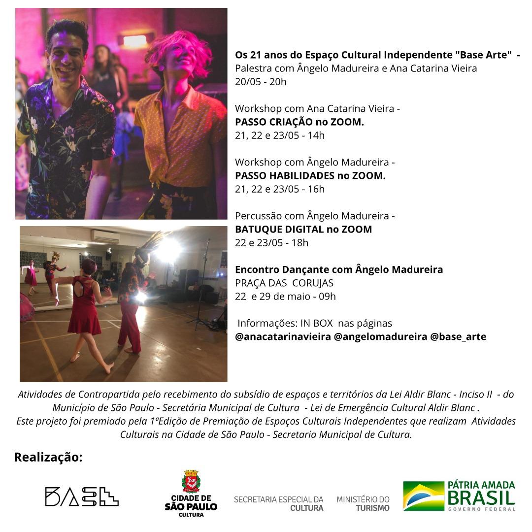 Programação Completa – BaSe ARTE – Lei Aldir Blanc – Inciso II  e  Prêmio para Espaços Culturais da Secretaria Municipal de Cultura do Município de SP